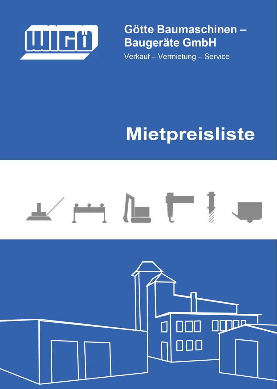 Miete Preisliste | Götte Baumaschinen
