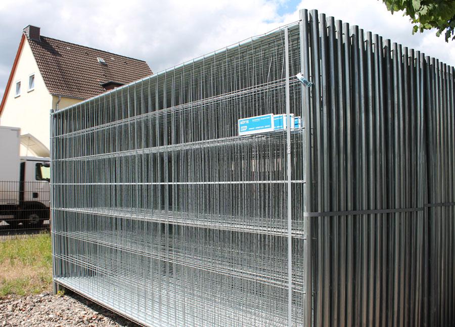 Bauzäune mieten in Kassel - Götte Baumaschinen