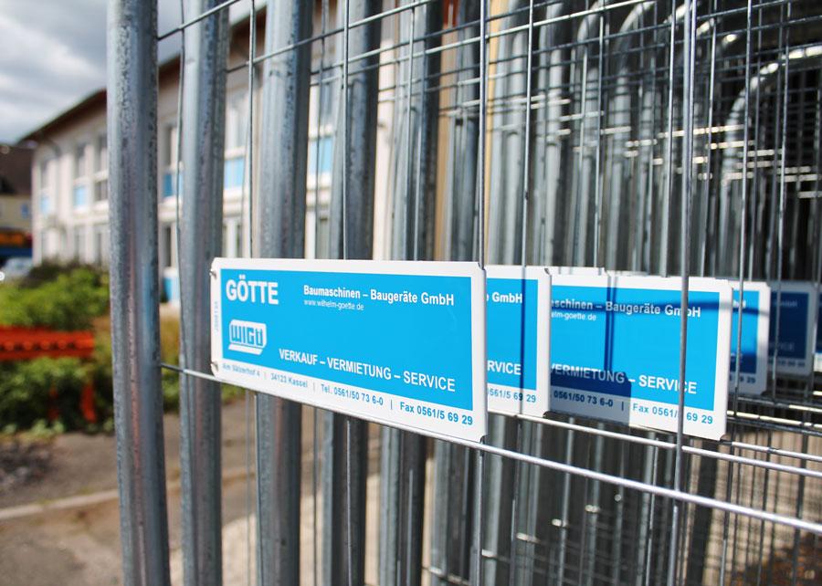 Bauzaun zur Miete - Mobilzaun nach Göttingen - Bad Hersfeld - Warburg