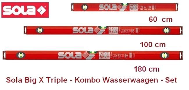 Sola BigX Triplekombo X3 Profi-Wasserwaagen-3er Set