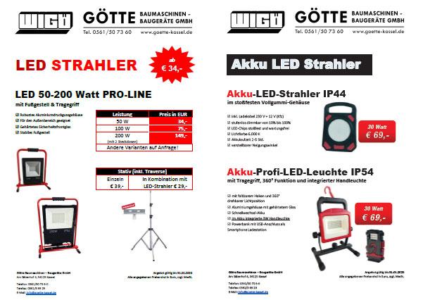LED Strahler Aktion