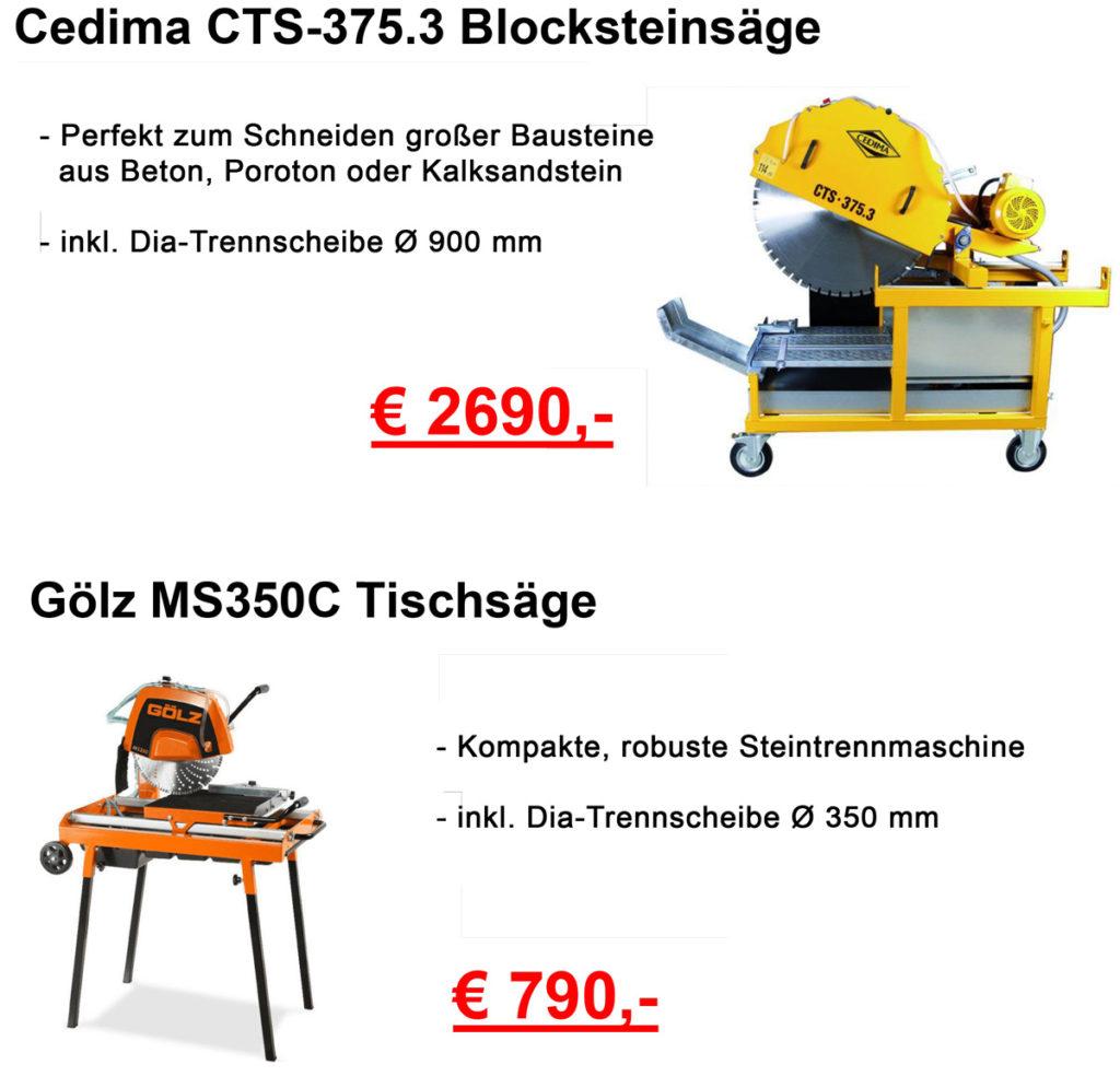 Tischsäge Cedima + Gölz in der Aktion
