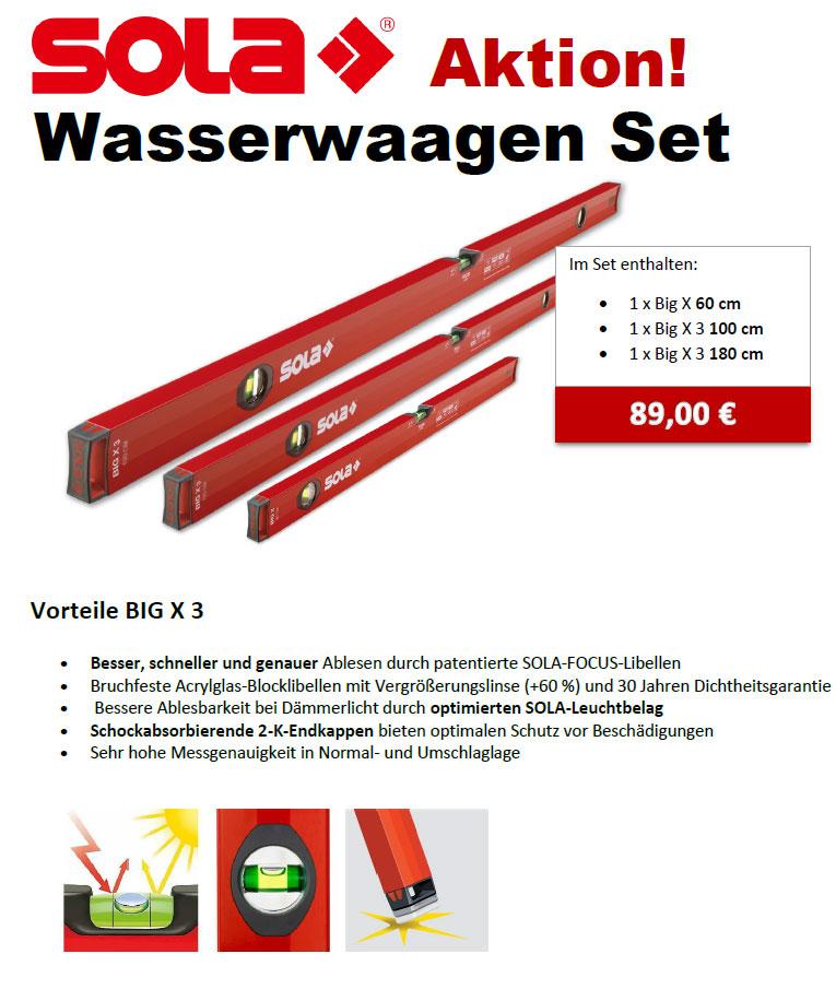 Wasserwaagen Set von SOLA günstig kaufen. 89,00 EUR Netto!