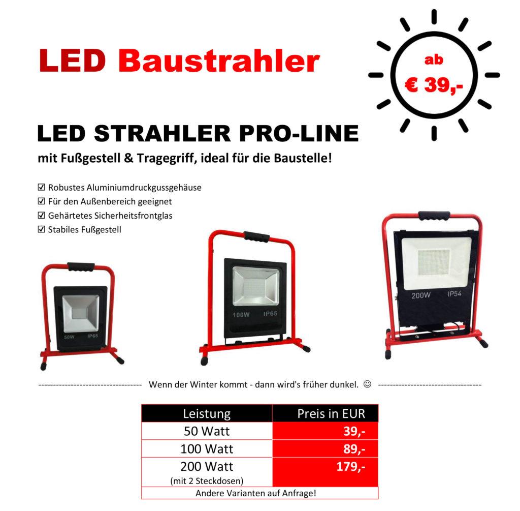 LED-Strahler kaufen bei GÖTTE - Wo bessere Produkte weniger kosten. Ihr Fachhändler in Nordhessen - Götte Baumaschinen